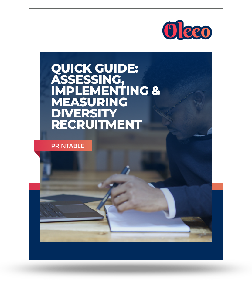 Oleeo-[Printable]-Quick-Guide-Assess-Implement-and-Measure-Diversity-Recruitment-Tactics-Mockup